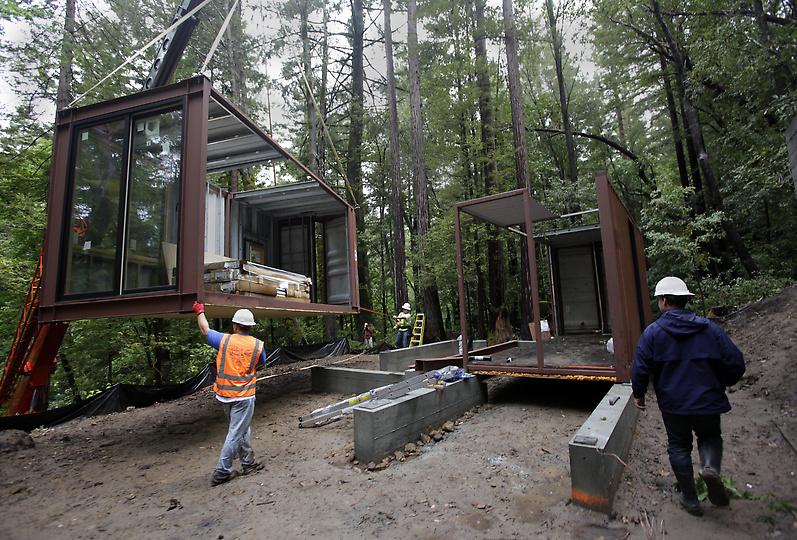 construir una casa en un container